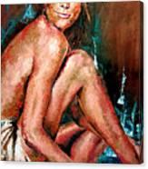 Woman Sitting Canvas Print