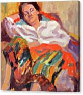 Woman Sleeping Canvas Print