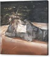 Woman Thinking Canvas Print