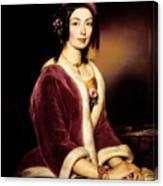 Woman Wearing A Velvet Pelisse  Canvas Print