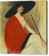 Woman Wearing Hat Canvas Print