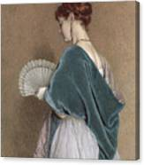 Woman With A Fan Canvas Print