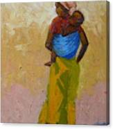 Woman With Baby Canvas Print