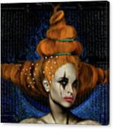 Woman With Big Hair Canvas Print