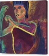 Woman With  Green Arm Canvas Print