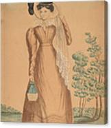 Woman With Plumed Hat Canvas Print