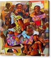 Women And Children Canvas Print