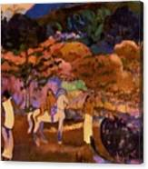 Women And White Horse 1903 Canvas Print