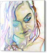 Women Body - Color Face1 Canvas Print