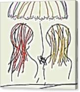 Women Hoping For Rain 2 Canvas Print