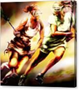 Women In Sports - Lacrosse Canvas Print
