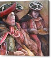Women Of The Andes Canvas Print