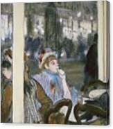 Women On A Cafe Terrace Canvas Print