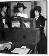 Women Voting, C1917 Canvas Print