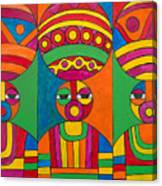 Women With Calabashes Canvas Print