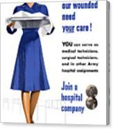 Women's Army Corps - Ww2 Canvas Print