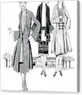 Womens Fashion, 1926 Canvas Print