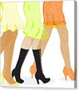 Womens Leg Dots Canvas Print
