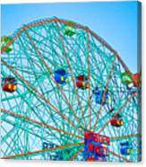 Wonder Wheel Amusement Park 1 Canvas Print