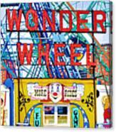 Wonder Wheel Amusement Park 10 Canvas Print