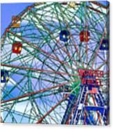 Wonder Wheel Amusement Park 3 Canvas Print