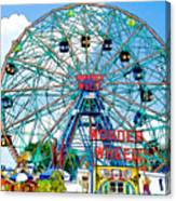 Wonder Wheel Amusement Park 6 Canvas Print