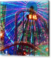 Wonder Wheel At The Coney Island Amusement Park Canvas Print