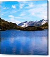 Wonderful Lake San Bernardino In Switzerland. Canvas Print