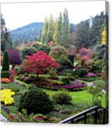 Wonderful Sunken Garden In The Butchart Gardens,victoria,canada 1. Canvas Print
