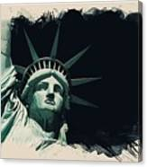 Wonders Of The Worlds - Lady Liberty Of New York 2 Canvas Print