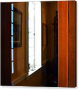 Wood And Glass Door Canvas Print