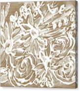 Wood And White Floral- Art By Linda Woods Canvas Print