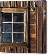 Wood And Window Canvas Print