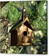 Wood Birdhouse Canvas Print