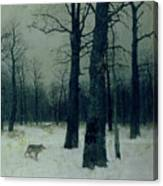 Wood In Winter Canvas Print
