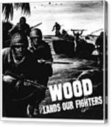 Wood Lands Our Fighters Canvas Print