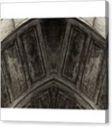 Wood Stone In Sepia Canvas Print