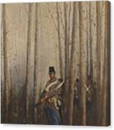 Wood With Soldiers Canvas Print