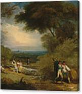 Woodcutters In Windsor Park Canvas Print