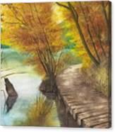 Woodem Bridge Canvas Print
