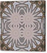 Wooden Art Deco Starbursts Canvas Print