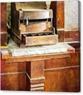 Wooden Bank Cash Register Canvas Print