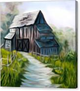 Wooden Barn Dreamy Mirage Canvas Print