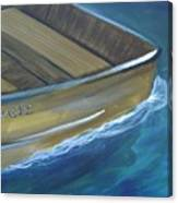 Wooden Boat -rear Canvas Print