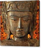 Wooden Buddha Canvas Print