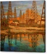 Wooden Derrick Canvas Print