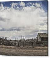 Wooden Fenced Corral Out West Canvas Print