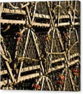 Wooden Lobster Traps Canvas Print