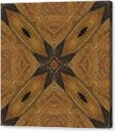 Wooden Maltese Cross Fresco Canvas Print