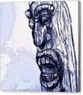 Wooden Man Canvas Print